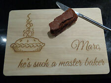 Personalised Wooden Engraved Chopping Board Master Baker - Any Name