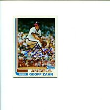 Geoff Zahn California Angels 1982 Topps Signed Autograph Photo Card