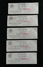 1937 Baltimore RADIO STATION WFBR * (5) STOCK DIVIDEND CHECKS * WJFK, WLIF, WJZ