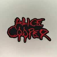 Alice Cooper Patch — Iron On Badge Embroidered Motif — Red Black Band Music