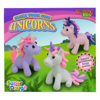 Make Your Own Unicorn Dough Doh Play Girls Childrens Modelling Craft Kit TY9765
