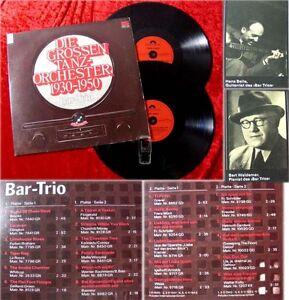 2LP Bar Trio: Die großen Tanzorchester 1930 - 1950