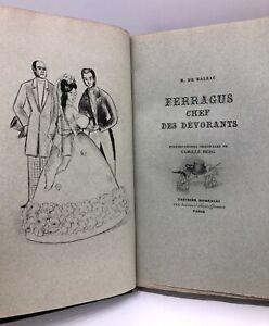 RELIURE Ferragus chef dévorants BALZAC 1/ex N° pointes-sèches BERG XX pure fil