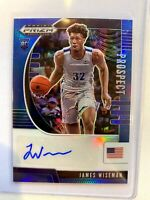2020-21 Panini Prizm Draft Picks James Wiseman Blue Auto 089/149 RC Warriors