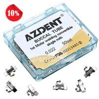 AZDENT Dental Ortho Buccal Tube 1st Molar Welding Convertible Roth.022 U1 / L1