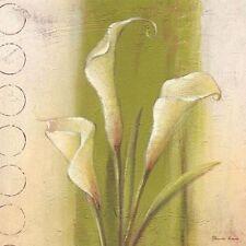 Paula Reed: ELEGANTE Calas CUADRO SOBRE LIENZO 20x20 Cuadro de pared con flores