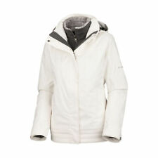 Columbia Women's Sleet To Street 3-in-1 Ski Jacket Coat - White L (Missing Hood)