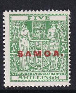 SAMOA SG172, 5s green, NH MINT. Cat £26.
