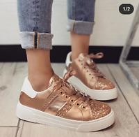 Scarpe Donna da Ginnastica Sportive Sneaker con Zeppa Nuova Collezione Comode IT