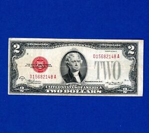 1928-D $2 United States Note CRISP NICE CONDITION ERROR OFF CENTER