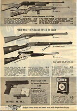 1969 ADVERTISEMENT 2 Pg Air Rifle Daisy Crosman Winchester Old West Benjamin