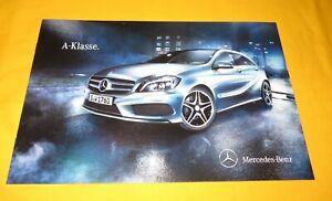 Mercedes A-Klasse 2012 Prospekt Brochure Depliant Catalog Folder Prospetto