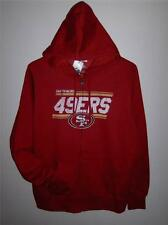 Football-nfl Women's Clothing Nwt San Francisco 49ers Womens Pro Quality Zip-up Polar Fleece Jacket Red S-xl