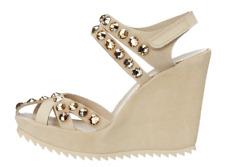ba61dd84125 Pedro Garcia Womens Varina Natural Wedge Sandals Sz 40 EUR 7415