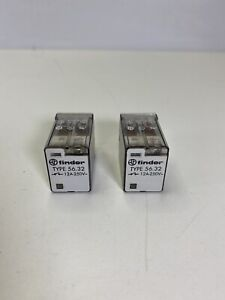 LOT OF 2 Finder 56.32 Cube Relay 12A  250V  8 Pin Square 24 VDC Coil NEW W/O BOX