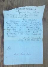 New listing Rare Post Civil War Telegraph Break Up Gallipolis Hospital Oh.