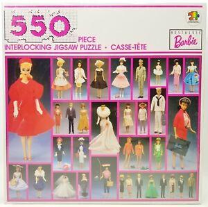 """Barbie Nostalgic 550 Piece Interlocking Jigsaw Puzzle 18"""" x 24"""" No. 6159 NEW"""