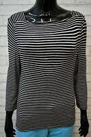 Maglia a Righe Donna RALPH LAUREN Taglia S Maglietta Manica 3/4 Shirt Woman