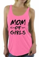 Mom of Girls Racerback Tank Tops Mother Day's Gift for Girl Mama
