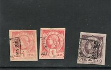 Haiti Imperf Libedrty heads - all with Poste Paye cancels