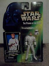 "Star Wars POTF Luke Skywalker Stormtrooper Disguise with Blaster ""CASE FRESH"""