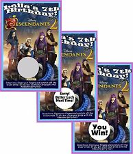 DISNEY DESCENDANTS 2 SCRATCH OFF PARTY GAMES CARDS BIRTHDAY FAVORS SCRATCH OFFS