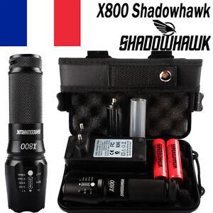 80000LM CREE XML L2 LED Tactique Militaire Torche Lampe de poche batteri+2x18650
