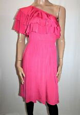 PETER ALEXANDER Brand Orchid Frill One Shoulder Dress Size M BNWT #TG44