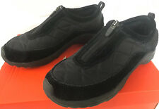 Cabela's Thinsulate Quilted Zip 82-4098 Black Suede Warm Moc Shoes Women's 7.5 M