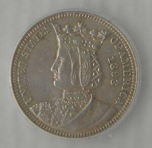 1893 Isabella Commemorative Silver Quarter Dollar ~ ICG AU58, NICE!!!