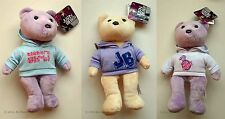 "Set of 3 Justin Bieber Teddy Bears Soft Toy Plush 8"" 20 cm Collectors New"