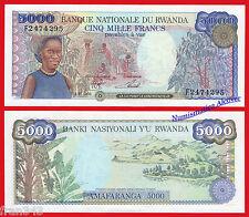 RUANDA RWANDA 5000 Francs francos 1988 Pick 22   SC / UNC