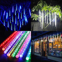 8 Tubes LED Waterproof Meteor Shower Rain Drop Icicle Snow Christmas Xmas Light