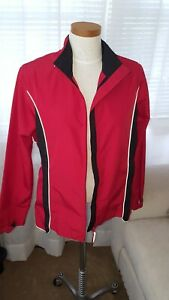 Womens Odlo Windproof Running Jacket -  Size M red/black