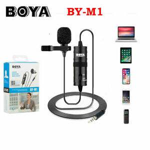 BOYA BY-M1 3.5mm Lavalier Microphone Mic for DSLR Canon Nikon Camera Smartphone