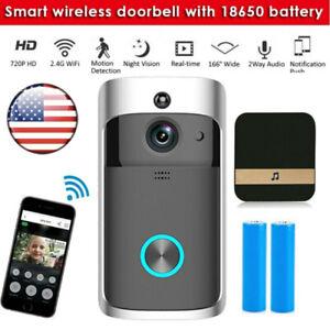 WiFi Wireless Doorbell Video Smart Talk Door Ring Security HD Camera Bell New