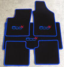 Autoteppich Fußmatten Kofferraum Set für Fiat 500x ab 2014' blau rot 5tlg. Neu