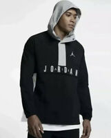Nike Air Jordan Anorak Pullover Windbreaker Hoodie Black/Grey/White (Size Large)
