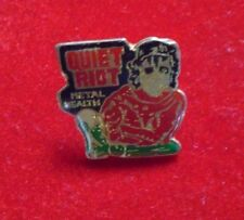 """Quiet Riot - Vintage metal pin-on / Metal Health / new cond. / 1 x 1""""  Rare"""