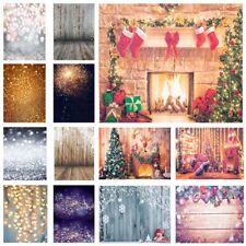 5*3Ft/5*7Ft Christmas Vinyl Backdrop Photoh Wooden Photography Background Studio