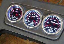 BMW E90 E92 E93 Centre Console Gauge Holder 3 Hole 52mm - Silver *NEW*