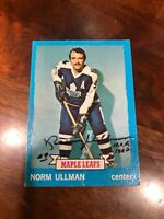 Norm Ullman 1973 Topps #148 Autograph Hand Signed Toronto Maple Leafs HOF