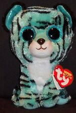 """TY BEANIE BOOS - TESS the 6"""" TIGER - MINT with MINT TAG - JUSTICE EXCLUSIVE"""