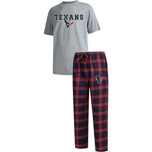 Houston Texans Pajama Set by Concept Sports - Adult Size Medium