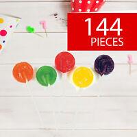 Assorted Fruit Flavors Candy Lollipops - Bulk Suckers - Party Favors - 144