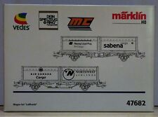 HO Gauge Marklin 47682 Air Freight Container Wagon Set -  Mint In Box