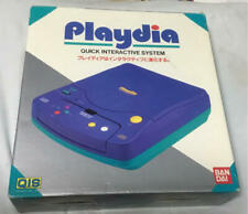BANDAI Playdia System Launch Edition Blue Console Tested Japanese Import
