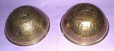 Antique vintage retro arabic islamic Persian 2 hand made brass bowl