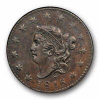 1816 1C Coronet Head Large Cent NGC AU 58 About Uncirculated N 4 Original