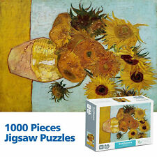 US 1000 Pieces Sunflower by Van Gogh Jigsaw Puzzles Adult Kids Intelligent Toys